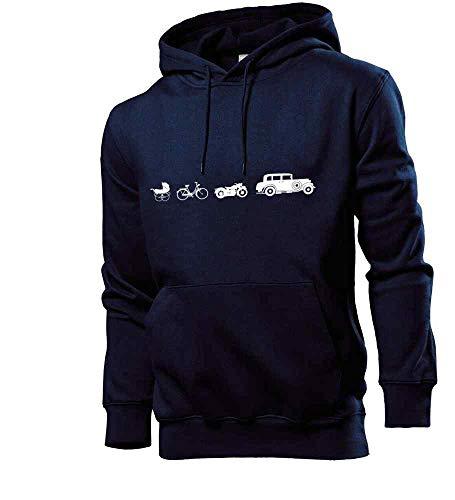 Generisch Oldtimer Evolution Männer Hoodie Sweatshirt Navy L - shirt84.de