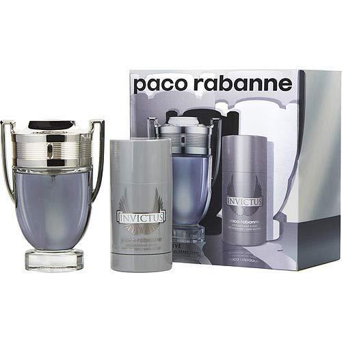 Paco Rabanne Invictus 100ml Eau de Toilette + 75ml Deodorant Stick