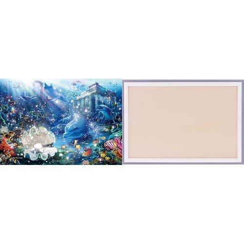 216ピース ジグソーパズル ラッセン エウレカ スモールピース【クリアカットジグソーパズル】(18.2x25.7cm)+木製パズルフレーム ウッディーパネルエクセレント シャインホワイト (18.2x25.7cm)