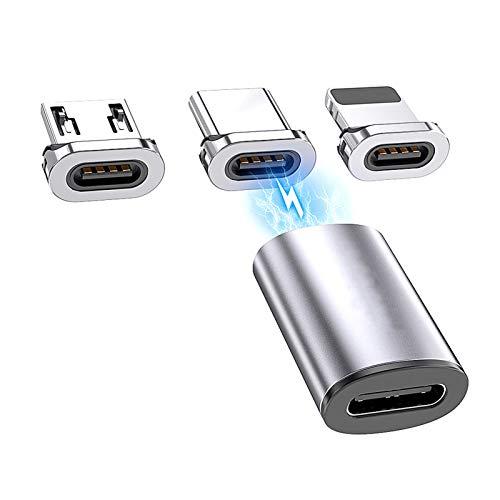 LTDD Essager USB Tipo C Adaptador Magnético USB C a Micro USB Imán Convertidor USB-C Tipo-C Compatible con iOS Y Más Dispositivos USB Tipo C