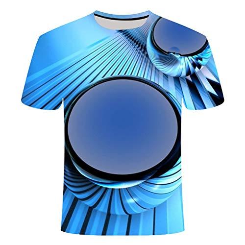 FZWAI Heren T-shirt digitaal printen streetwear overhemd Unisex 3D T-shirt (Color : 13#, Size : 3XL)