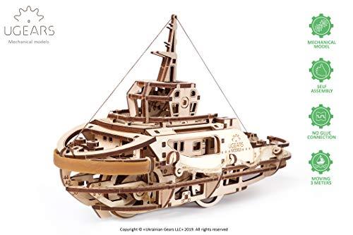 Ugears Tugboat タグボート 木製 ブロック DIY パズル 組立 想像力 創造力 おもちゃ