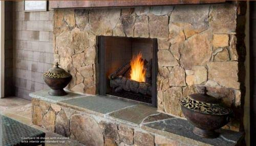 Learn More About Monessen 42 Courtyard PT Interior Trad. NG Fireplace w/SS Grate and SD Logs