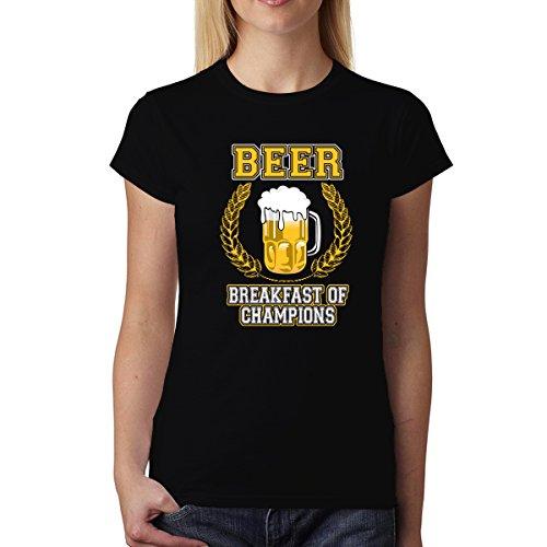 Camiseta De Cerveza Breakfast Of Champions Mujer