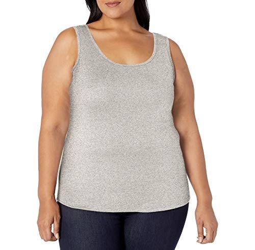 Amazon Essentials Plus Size Tank Fashion-t-Shirts, Gris Claro, 6X