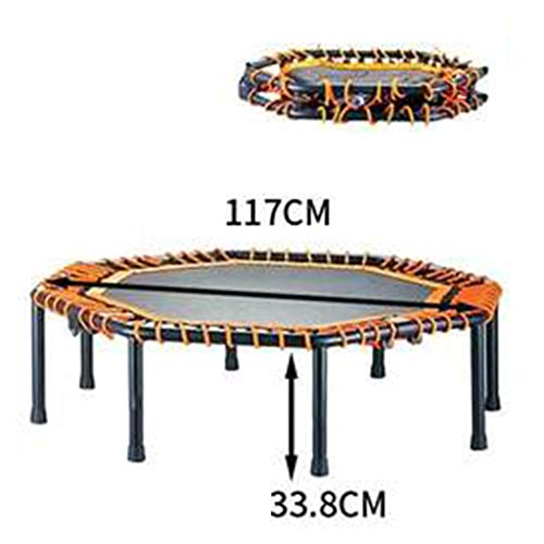 Trampolines YNN Adults Foldable Rebounder For Kids With Elastic Rope Stable Structure Support 225kg Aerobic Exercise Fitness Equipment