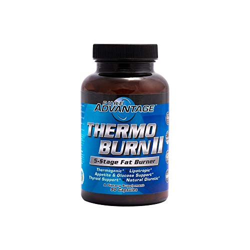 Pure Advantage Thermo-Burn II 5-Stage Fat Burner Supplement, 90 Count