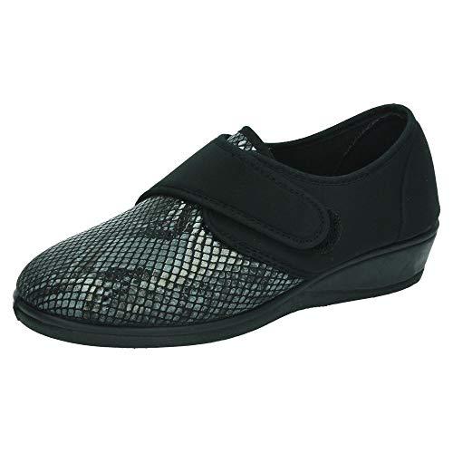 ISASA 0778/366 Zapatillas Licra SEÑORA Zapatillas Negro 36