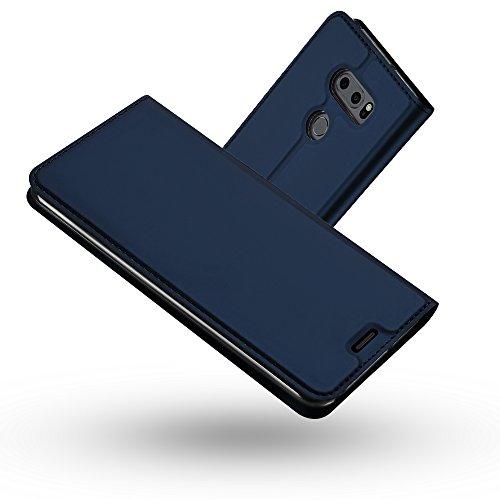 RADOO LG V30/ V30 Plus/ V30S ThinQ Hülle, Premium PU Leder Handyhülle Brieftasche-Stil Magnetisch Folio Flip Klapphülle Etui Brieftasche Hülle Hülle Cover für LG V30/LG V30 Plus/LG V30S ThinQ (Blau)