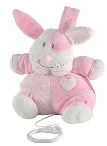 Tris&Ton Peluche musical 13 cm osito infantil bebé niño niña, oso peluche suave felpa modelo Musical Gordi Rosa (Trisyton)