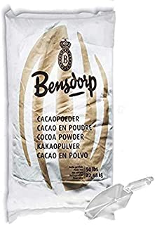 50lb Bensdorp Royal Dutch-Process Cocoa Powder | 22/24% Cocoa Butter | With Cacaoholic Brand Scooper