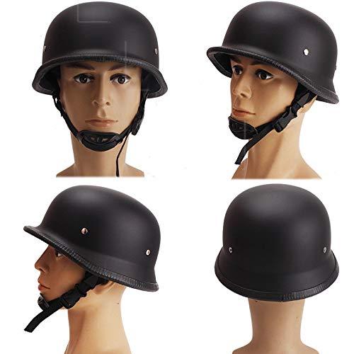 QYHT Sommer Motorrad Retro Helm, Mode Harley Motorrad Helm, DOT, ECE, CNS, ABN Sicherheitszertifizierung, 4 Farben erhältlich (A,M)
