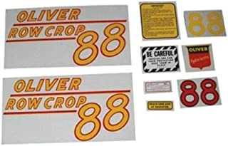 Tractor Decal Set, Oliver 88 Row Crop, Yellow, Mylar