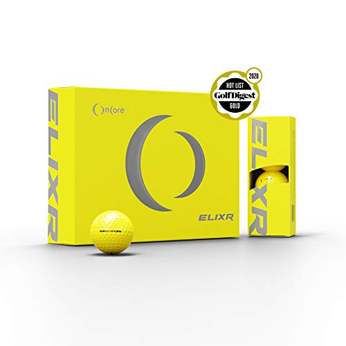 Oncore ELIXR Series Golf Balls PGA Tour | Velocity | Control | Spin | Compression | High Performance Golf Balls (Yellow)