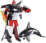 Desarrollo de imaginación y Creatividad Transformar Juguetes, transformación de la Vida Marina Robot Toys Killer Whale Dolphin Great White Shark Deformation Figura de acción de los niños