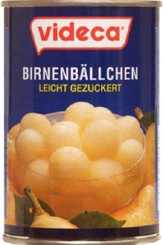 Videca Birnenbällchen aus Williams Christ Birnen, 6er Pack (6 x 425 g)