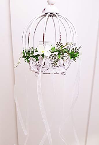 Fensterdeko Shabby chic Landhaus Windlicht Teelicht Landhaus
