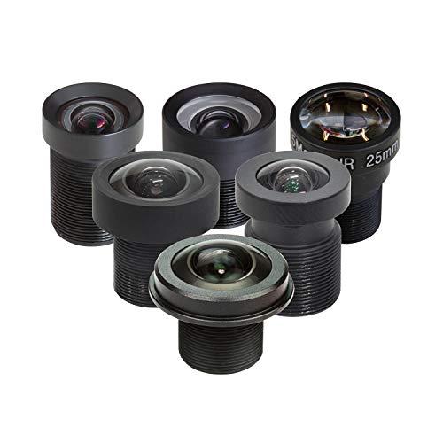 Arducam M12 Objektiv-Set für Raspberry Pi HQ Kamera mit M12 Adapter