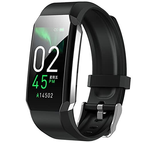 Reloj inteligente T3 Hombres Mujeres Reloj deportivo inteligente Pulsera con monitor de frecuencia cardíaca corporal Rastreador de actividad inteligente multifuncional a prueba de agua - Negro