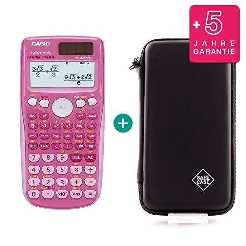 Casio FX-85GT Plus Pink + Schutztasche + Erweiterte Garantie