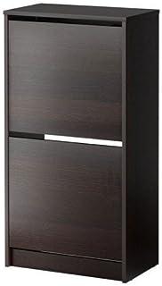 comprar comparacion IKEA BISSA zapatero en marrón; 2 compartimentos