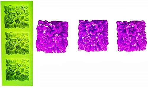 EVRYLON Moule en Silicone 3 jardinières carrées Artisanales utilisent des moules en Silicone