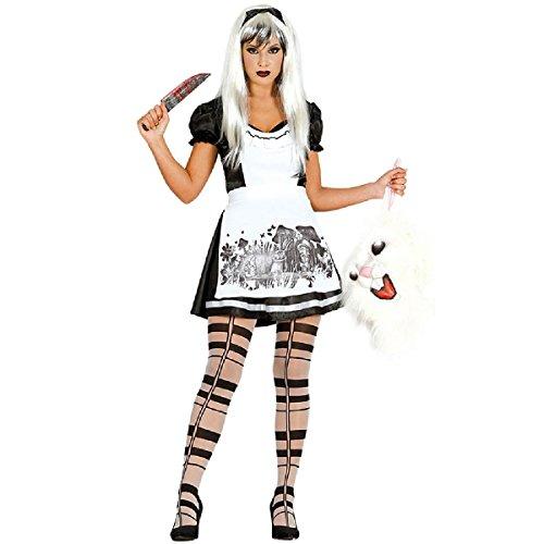 Halloween Kostüm Gothic Alice für Damen Halloweenkostüm Horror Damenkostüm Märchen Gr. S-M, Größe:S