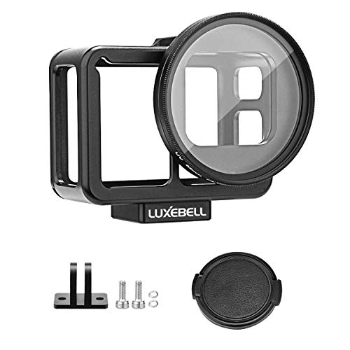 Luxebell Aluminium Alloy Skeleton Thick Solid Protective Case Shell with 52mm Uv Filter for Gopro Hero 7 6 5 Black Camera C500 Updated Version Black