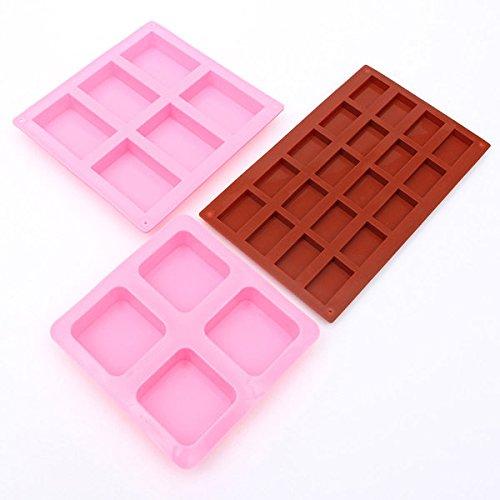 Bazaar rechthoek vierkant siliconen mal voor doe-het-zelf chocolade taart mal zeep