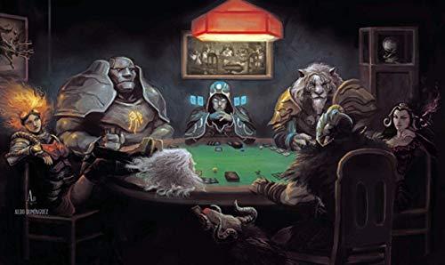 HiddenSupplies.com Magic The Gathering Poker Playmat TCG Gaming Mat 24 x 14 Inch
