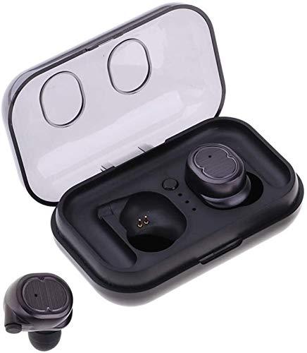 KEEBON Auriculares inalámbricos, Bluetooth 5.0 en la Oreja TWS Sonido estéreo de Auriculares Auriculares for Gym Viajar Deportes Correr