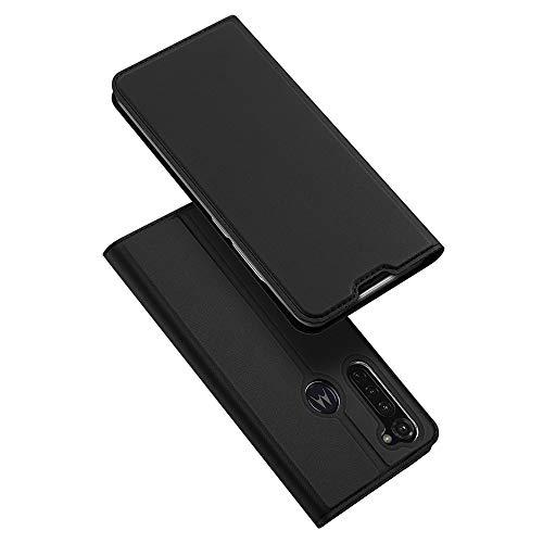 BaiFu Hülle für Motorola Moto G Stylus/Moto G Pro Lederhülle Flip Hülle mit Magnetischem Superdünnem seidigem Brieftasche Schutzhülle Kompatibel mit Motorola Moto G Stylus/Moto G Pro-Schwarz