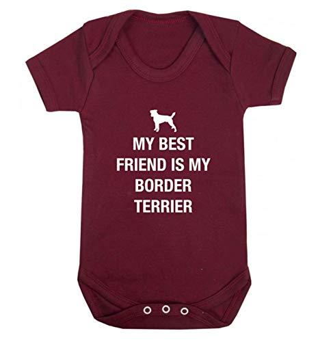 Flox Creative Baby Vest Best Friend Staffordshire Border Terrier - Rouge - XS