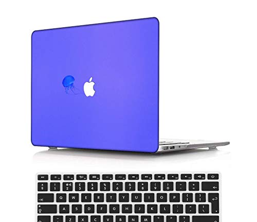 NEWCENT New MacBook Pro 13' Case,Plastic Ultra Slim Light Hard Case UK Keyboard Cover for Mac Pro 13 with/Without Touch Bar 2019 2018 2017 2016 Release(Model:A2159/A1989/A1706/A1708),Blue series 0378