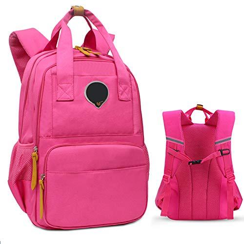 U&I Schulranzen Für Mädchen Jungen Im Alter Von 7-12 Jahre Alt Kinder-Rucksack Grundschule Buch-Tasche Täglich Rucksack (31 * 18 * 44cm) Pink