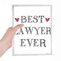 これまでに最高の弁護士を引用する職業 硬質プラスチックルーズリーフノートノート