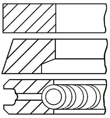 Goetze Engine 08-123400-00 Jeu de segments de pistons