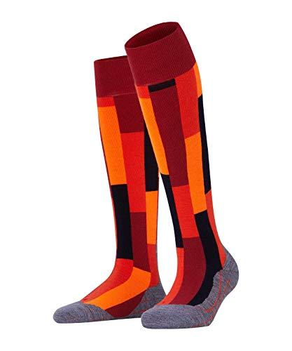 FALKE Herren Skisocken SK4 Brick, Schurwollmischung, 1 Paar, Rot (Ruby 8830), Größe: 39-41