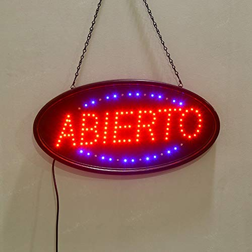 XUE Abierto Open Sign LED - Luz de Señal de Tienda for Windows, Paredes, Tiendas, Negocios, Restaurantes 19.7x10 Pulgadas