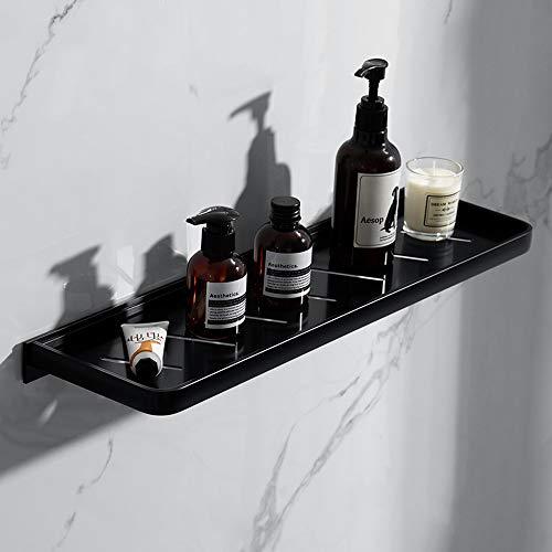 Thwarme badkamerspiegel voorste voorwerp frame zwart badkamer plank 50 cm lengte keuken wandplanken douche mand opbergrek badkamer wastafel wc cosmetische tandstang