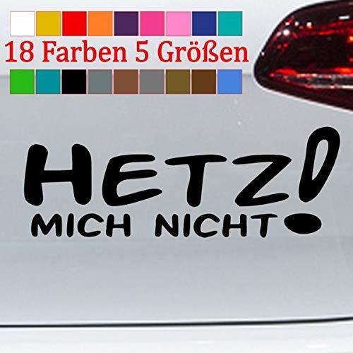 Generic Hetz Mich Nicht Aufkleber Sascha Grammel Sticker Golf Shocker 18 Farben 5 Größen