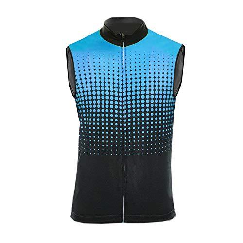 Uglyfrog Ropa Ciclismo Maillot Sin Manga Camiseta Verano de Ciclistas Hombre Cycling Sleevless Jersey/Shirts ESH19VS06