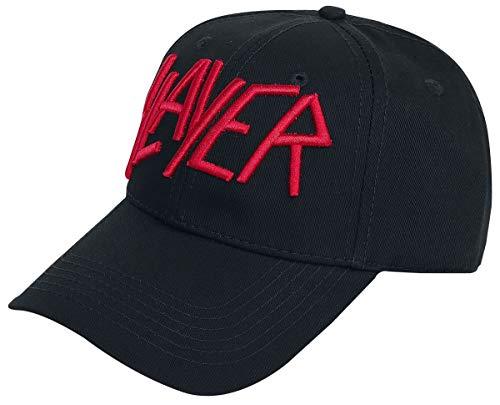 Slayer Logo - Baseball Cap Unisex Cap schwarz 100% Baumwolle Band-Merch, Bands