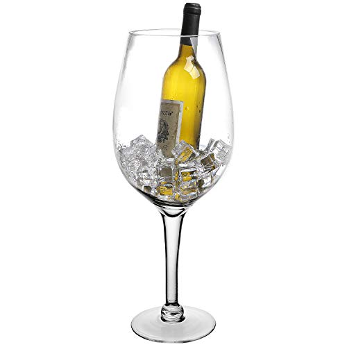 MyGift - Copa de vino decorativa (50,8cm, tamaño grande, cristal)