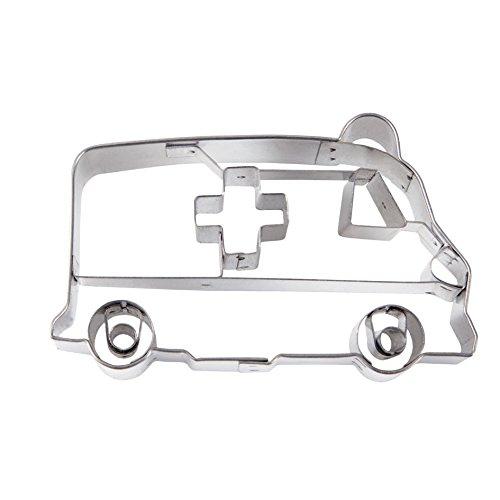 Städter Präge-Ausstecher Krankenwagen 8,0 cm Edelstahl, Silber, 8 cm