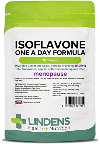Isoflavones Soy/SOYA + Red Clover - Safe Natural HRT Alternative for Menopause