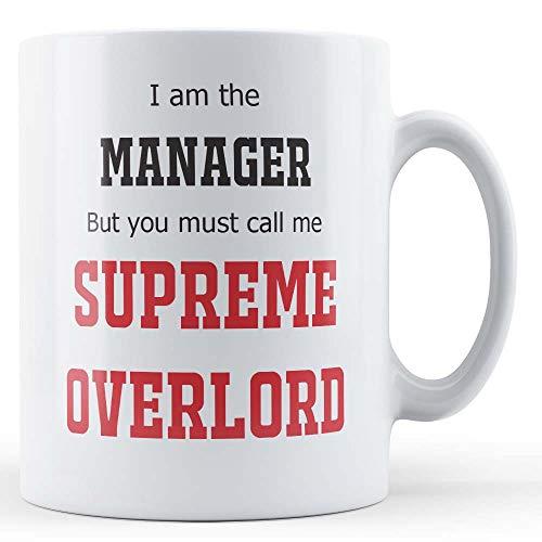 Grappige mok manager/baas ik ben de manager, maar je moet me bellen opperste overlord - gift mok door vader Fox