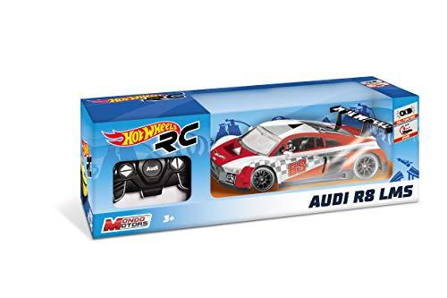 Mondo Motors - Hot Wheels Audi R8 LMS - macchina radiocomandata  per bambini - Scala 1:18 - 63592