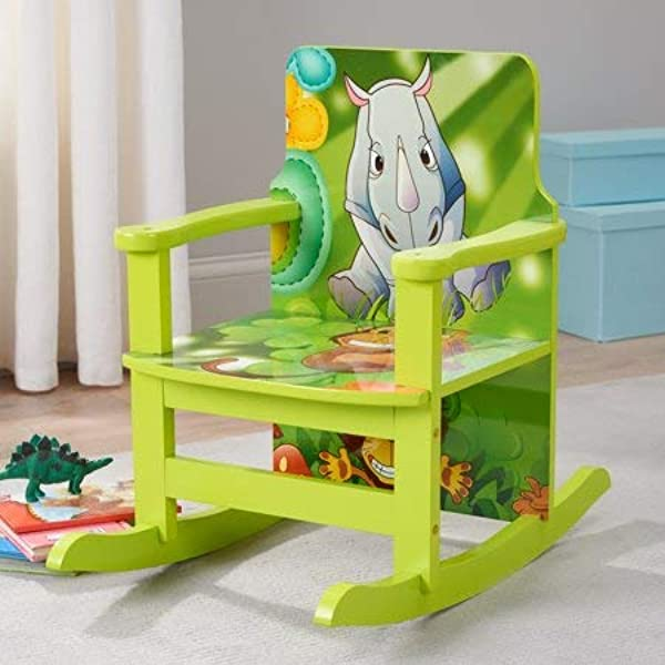 Delightful Super Cute And Playful Kid S Jungle Reading Rocking Chair 20 16 Perfect For Reading Playing And More Ideal For Classrooms Art Rooms Children S Bedrooms Playrooms Green