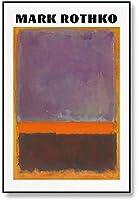 有名なマークロスコ抽象カラフルな壁アートキャンバス絵画ミニマリスト北欧ポスタープリントモダンなリビングルームの写真壁の装飾40x60cmフレームなしH63